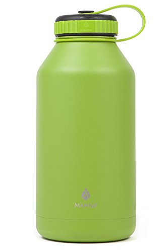 Manna Ranger 64 oz Vacuum Insulated Stainless Steel Wide Mouth Sports Water Bottle With Flex Cap |Sports and Hiking | Keeps Hot for 12 Hours, Cold for 24 Hours | BPA Free | Sweat Free - Kiwi