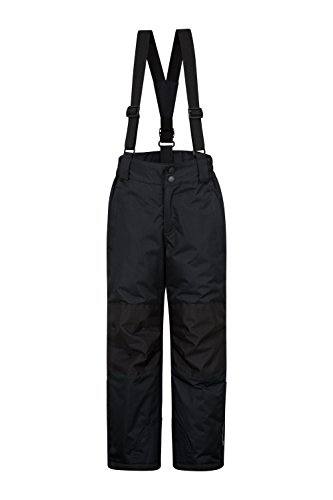 Mountain Warehouse Raptor Kids Snow Pants - Detachable Suspenders Black 11-12 Years by Mountain Warehouse