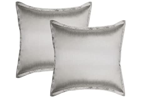 Amazon.com: 2 fundas de almohada de seda sintética sólida ...