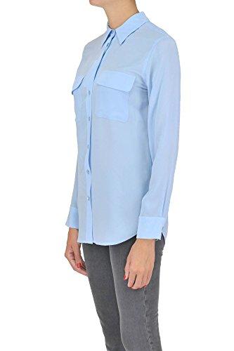 Equipment Femme MCGLTPC03026E Bleu Claire Soie Chemise