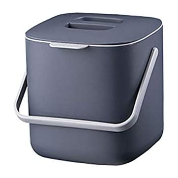 Amazon.com: HARRA HOME Cubo de basura de doble capa con tapa ...