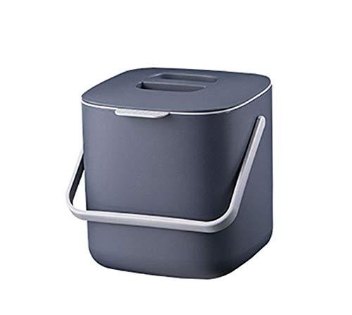 HARRA HOME cubo de basura de doble capa con tapa, contenedor de ...