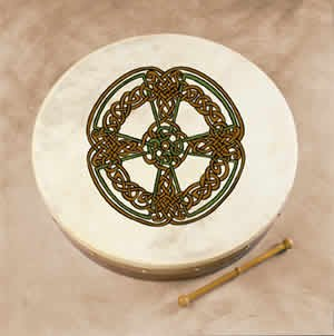 Irish Bodhran By Waltons ( (Knotwork Cross) by Waltons