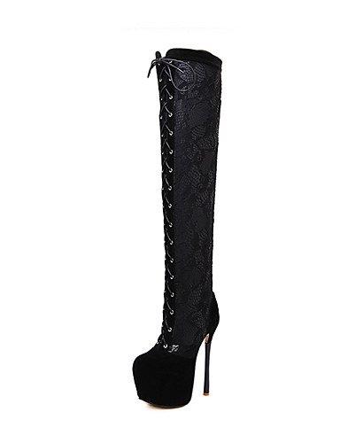 GGX/ Damen-High Heels-Kleid / Party & Festivität-Leder-Stöckelabsatz-Absätze-Schwarz black-us8 / eu39 / uk6 / cn39