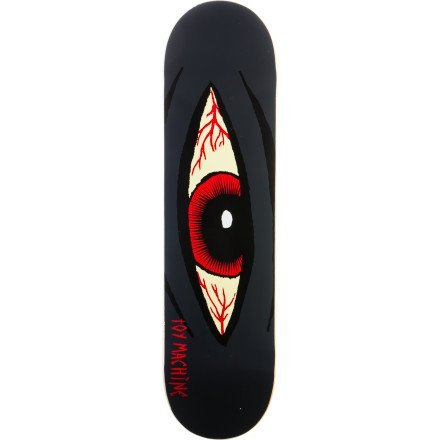 Toy Machine Bloodshot Sect Eye Skateboard Deck 8.125 - Charcoal