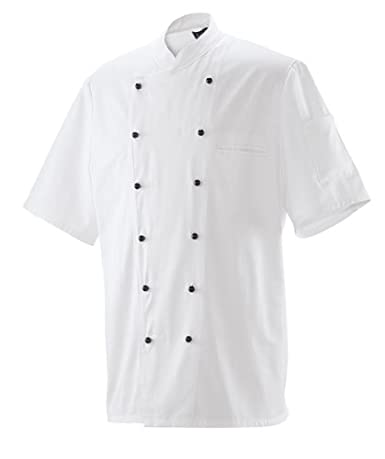 Kochjacke Bäckerjacke Jacke Halbarm 1/2 Arm Weiß Gr. 40-74 für Damen & Herren