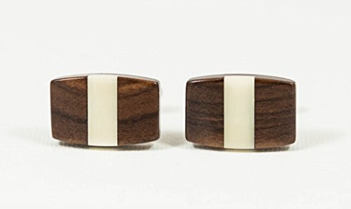 - Bolivian Rosewood and Tagua Nut Ivory Exotic Hardwood Cufflinks