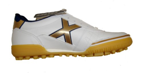 Munich - Zapatillas de fútbol sala para hombre White-Gold