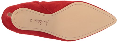 Sam Women's Red Suede Oran Mule Candy Edelman PqrWZ1wP