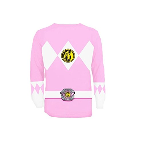 (The Power Rangers Long Sleeve Ranger Costume Pink T-shirt (Adult)