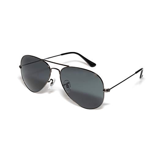 O-O Classic Aviator Sunglasses for Men Women, Meta Frame Mirrored UV400 Lens Protection ()