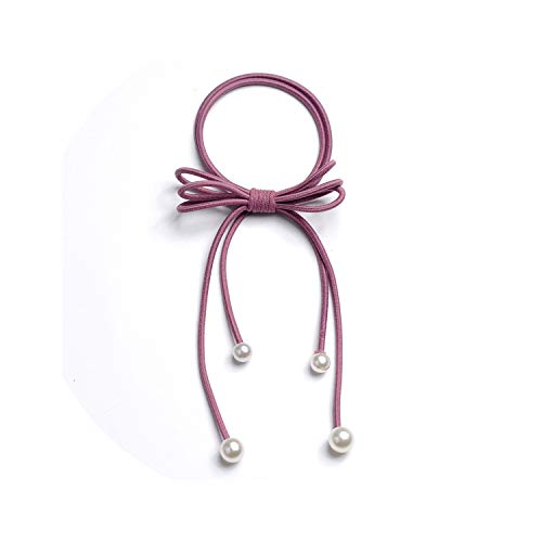 (Women hair band long ribbon cute bow hair accessories Hair Ribbons horsetail rope sweet Hair Band Girls tied hair headdress,Dark Pink)