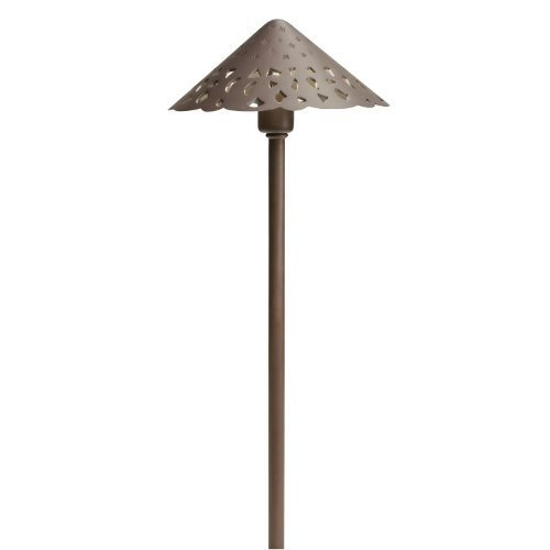 Kichler Lighting 15871TZT27 Hammered Roof 4W 2700K Design Pro LED 12V Path & Spread Landscape Fixture, Textured Tannery Bronze Finish by Kichler Lighting