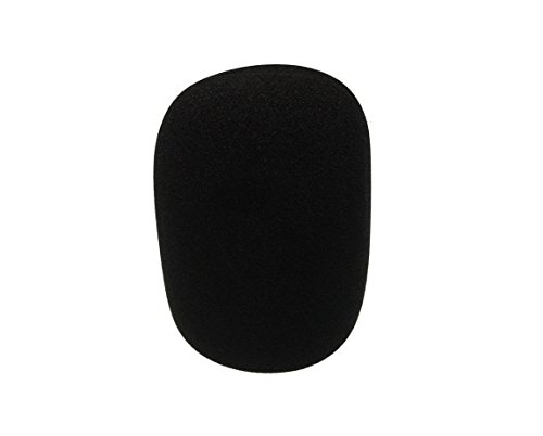 Large Pop Filter - Tetra-Teknica Extra Extra Large Foam Windscreen for MXL GENESIS, Audio Technica, and Other Large Microphones , Color Black