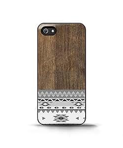 Aztec Pattern Wood Print Geometric Unique - Funda Carcasa para Apple iPhone 4 / iPhone 4S