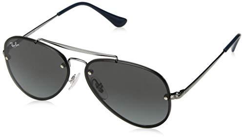 Ray-Ban Junior RJ9548SN Blaze Aviator Kids Sunglasses, Gunmetal/Gray Gradient, 54 ()