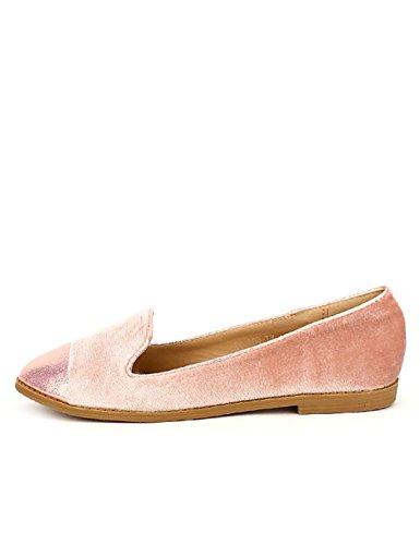 Femme FDM Cendriyon Velours Chaussures Rose Derbys BR77qwX