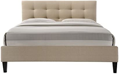 ALTOZZO Hermosa Tufted Upholstered Platform Contemporary Bed