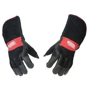 Lincoln Electric Premium Leather MIG Stick Welding Gloves |Heat Resistance & Dexterity| Large | K2980-L