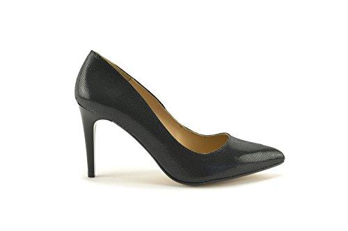 ConBuenPie by Mastrill - New Collection - Salones de Piel y Glitter metalizado de Mujer Vestir y Fiesta Colores Negro, Beige, Plata y Oro Negro