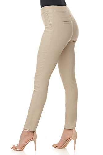 Rekucci Women's Ease in to Comfort Modern Stretch Skinny Pant w/Tummy Control (2,Stone)