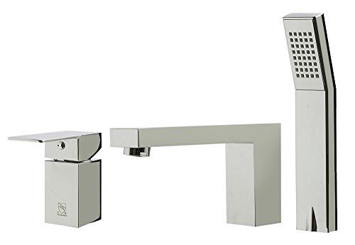 ALFI brand AB2322-PC Single Lever Bathroom Faucet with Squar