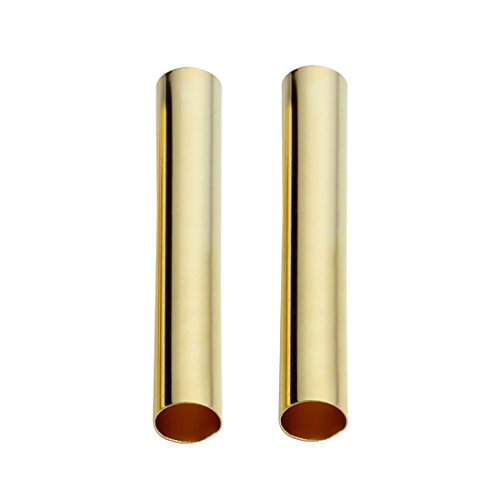 Linsoir Beads Solid Brass Straight Long Tube Spacer Beads 30X4mm Gold Finish Pack of 100 pcs