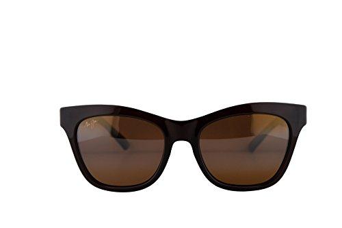 Maui Jim Sweet Leilani Sunglasses Rootbeer Blue w/Polarized Bronze Lens - Leilani Jim Maui Sweet