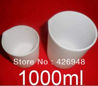 Ochoos 1000ml,Teflon Beaker,1L F4 beakers,Chemistry Laboratory PTFE,Acid Alkali Resistance