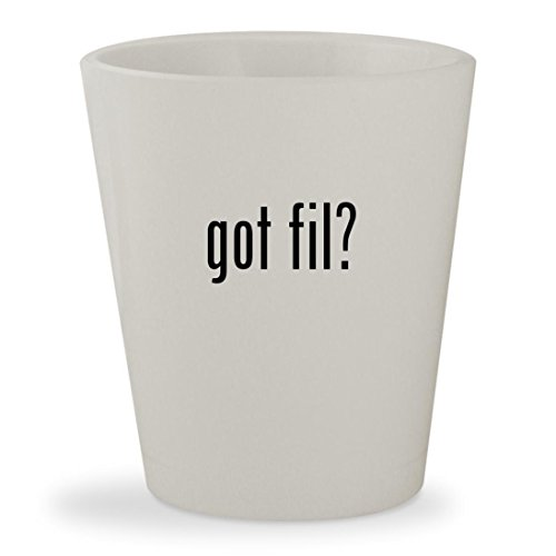 got fil? - White Ceramic 1.5oz Shot Glass