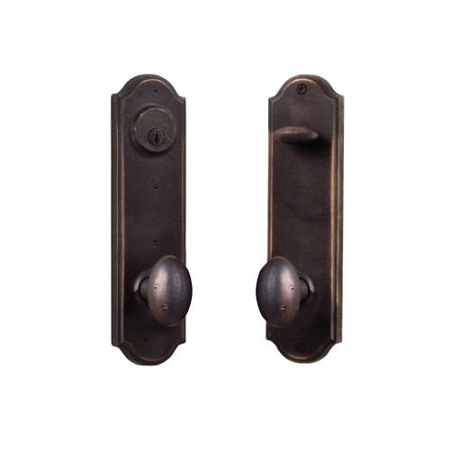 - Weslock 7645M-LH Tramore Dummy Set with Left Handed Durham Knobs, Oil Rubbed Bronze