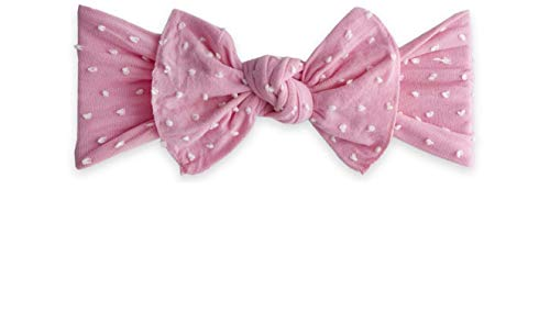 Baby Bling Infant Girls Bow Headband (Bubblegum Shabby - Dot Gum Bubble
