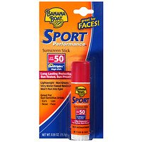 Banana Boat Sport Sunblock Stick SPF 50, .55 oz Pack of (Banana Sticks)