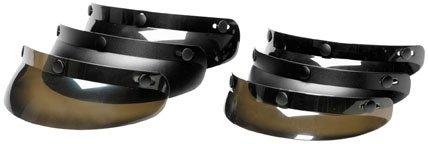 Echo Shorty 3 Snap Shield for Motorcycle Helmet (Smoke)