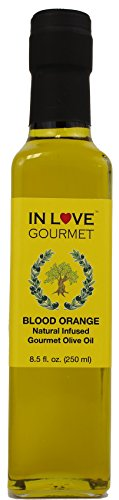 Blood Orange Natural Flavor Infused Gourmet Olive Oil 250ML/8.5oz By In Love Gourmet Blood Orange Flavor