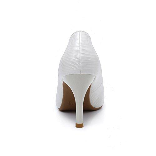 PUMPS Female Spring High Heels,Stiletto Spitze Damenschuhe,Flacher Schuh für Frauen,Joker-Schuhe A
