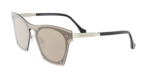 Balenciaga Women's BA0107 Palladium Metal/Brown - Balenciaga Sunglasses Womens