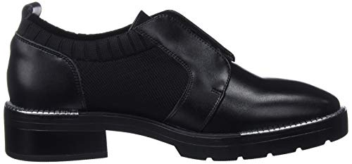 pelle 79829 donna Action Oxfords in Negro Seven da nero nero Sixty C43213 sock nPTASqWT