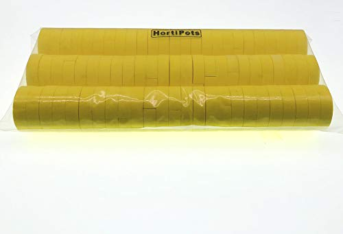 Cloning Collars, Neoprene Inserts 2 inch for Clone Machines and 2 in Net Pots in Hydroponic Systems Yellow Color 75 Pack
