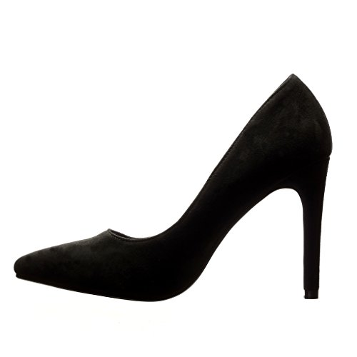 Angkorly Damen Schuhe Pumpe - Stiletto - Sexy - Nieten - Besetzt - Metallisch Stiletto High Heel 10 cm Schwarz