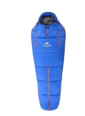 Olly Marca Saco De Dormir Humanoid Acampar Al Aire Libre Ultraligero Cálido Cuatro Estaciones Saco De Dormir De Algodón (Color : Azul, ...