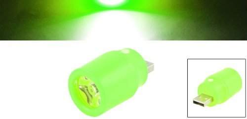 eDealMax plástico Mini USB Interruptor cilindro blanco LED linterna de la luz verde de hierba - - Amazon.com
