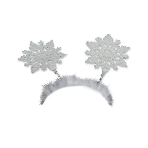 Beistle 20708, 1 Piece Glittered Snowflake Boppers
