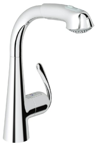 Grohe 33 893 00E Ladylux3 Plus WaterCare Main Sink Dual Spray Pull-Out Kitchen Faucet, StarLight Chrome (Ladylux Plus Grohe Kitchen)