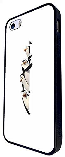 1085 - Cool Fun Multi Penguin Funny Design iphone SE - 2016 Coque Fashion Trend Case Coque Protection Cover plastique et métal - Noir