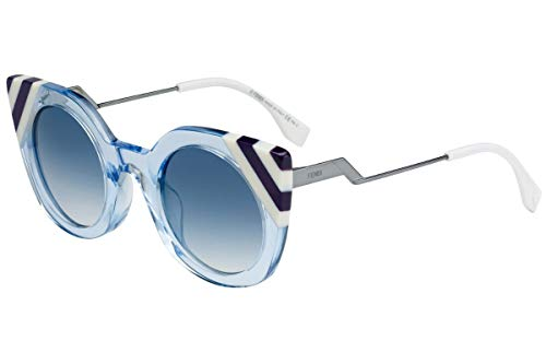 Fendi FF0240/S Sunglasses Azure w/Dark Grey Gradient Lens 47mm MVU08 FF0240S FF 0240S FF ()