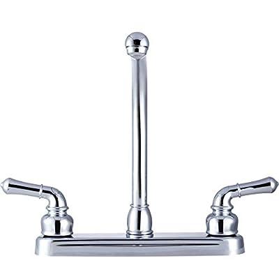Dura Faucet DF-PK210C-CP Hi-Rise RV Kitchen Faucet with Classical Levers (Chrome): Automotive