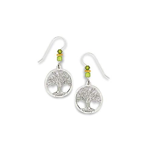 Tree of Life Silver-tone Earrings Made in USA by Sienna Sky si1410