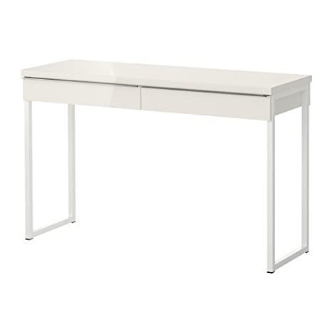 Ikea Besta Frese Scrivania 120 X 40 Cm Colore Bianco Lucido