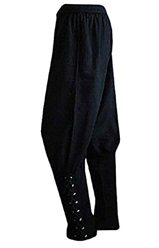 Karlywindow Men's Ankle Banded Pants Tie Medieval Viking